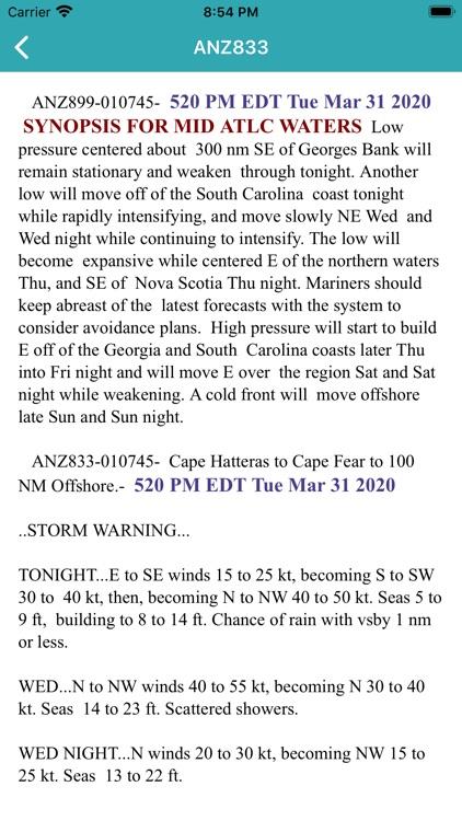 NOAA Marine Forecast & Weather screenshot-3