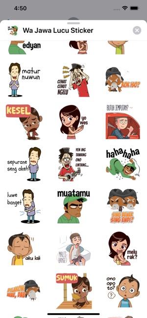 Wa Jawa Lucu Sticker