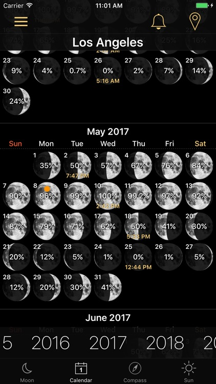 Moon Phases and Lunar Calendar screenshot-0