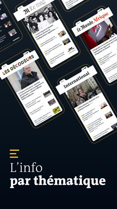 Le Monde, Actualités en direct screenshot three