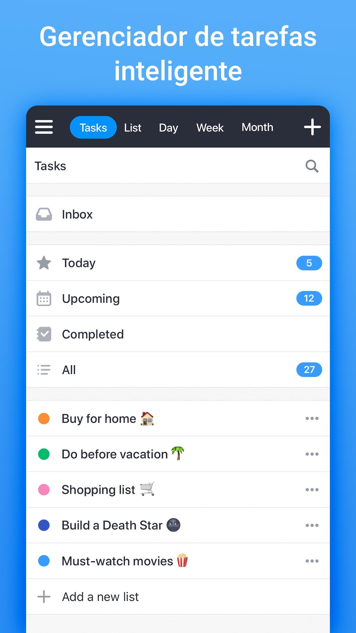 Screenshot do app Calendars da Readdle