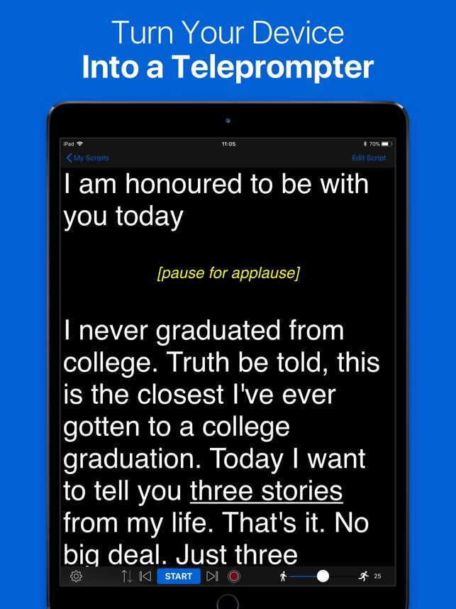 Teleprompter Lite on the App Store
