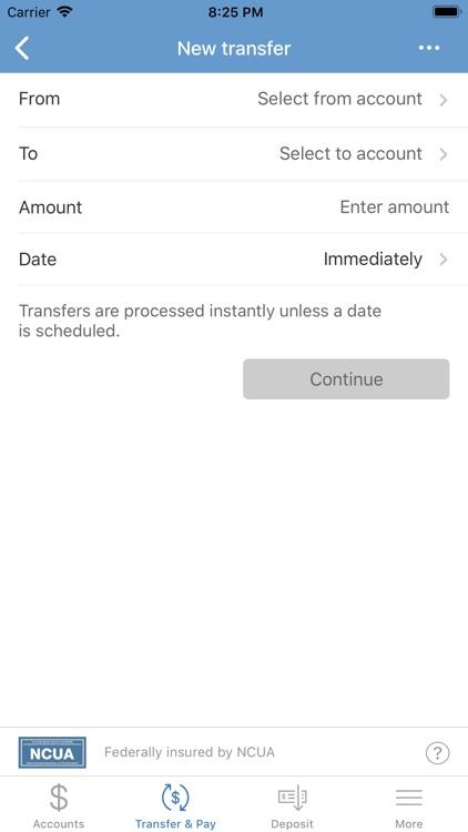 Chessie FCU Mobile Banking screenshot-4