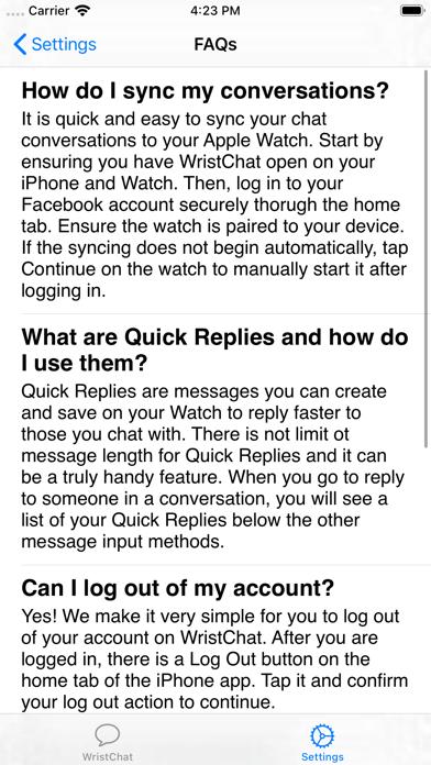 WristChat for Facebook screenshot 7
