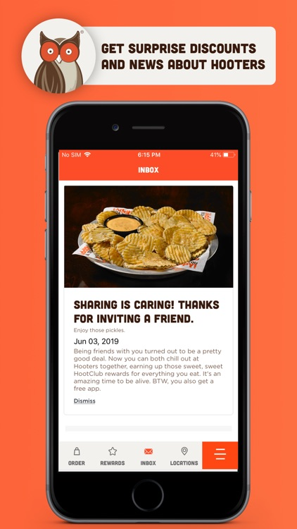 Hooters - Ordering and Rewards
