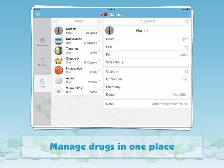Pill Monitor Pro for iPad screenshot-3