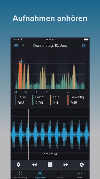 Screenshot for SnoreLab in Germany App Store