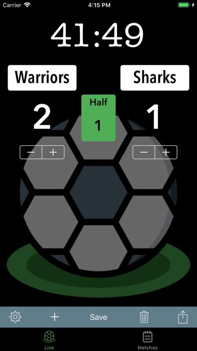Soccer Scoreboard Track/Share screenshot 1
