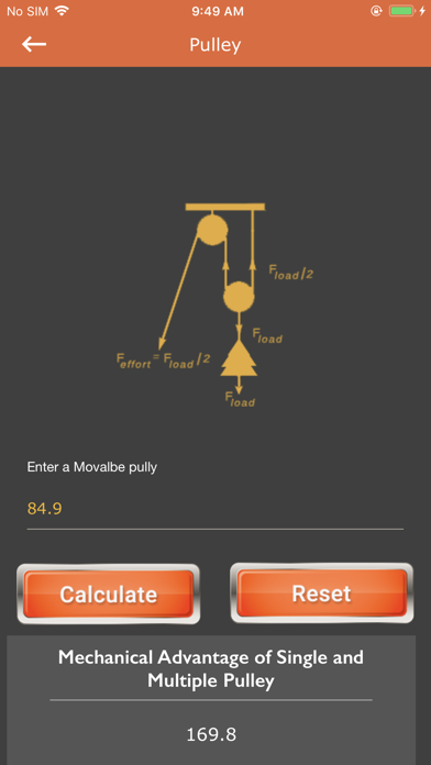 Calc of Plane and Pulley screenshot 4