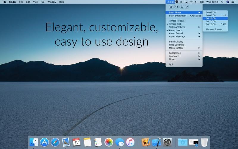 Timey 3: menu bar timer скриншот программы 1