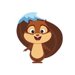 DUDE-Squirrel Sticker