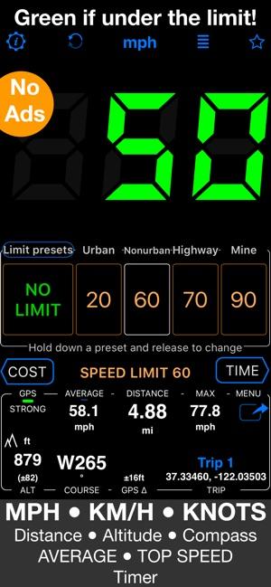 Speedometer 55 GPS Speed & HUD on the App Store