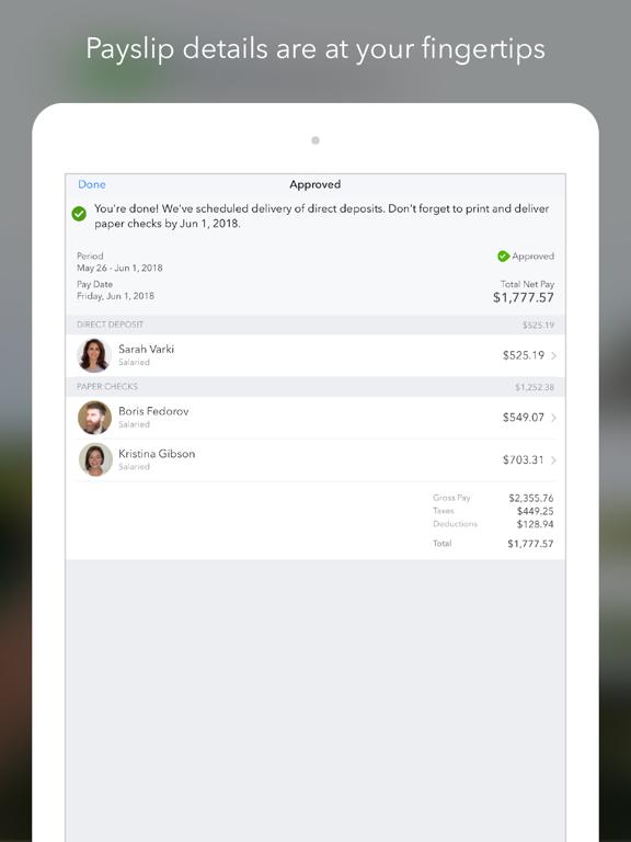 QuickBooks Payroll iPad
