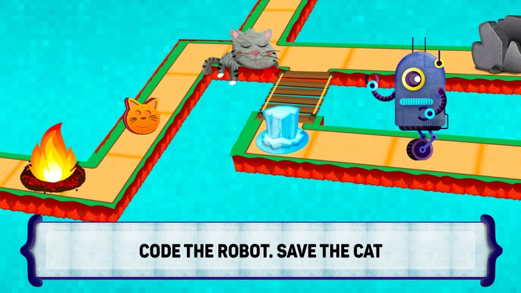Code the Robot. Save the Cat
