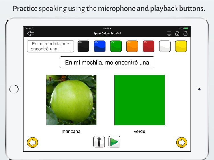 SpeakColors Español Pro screenshot-2