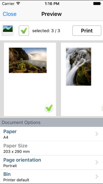 Printershare Premium review screenshots