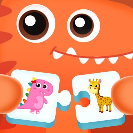 Dinosaur Puzzles Flashcards