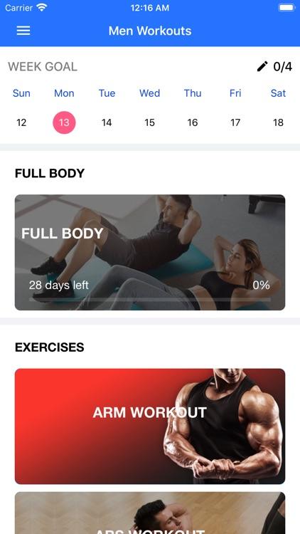 Home Workout App for Men screenshot-3