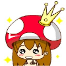 Mushroom Girl-Sticker