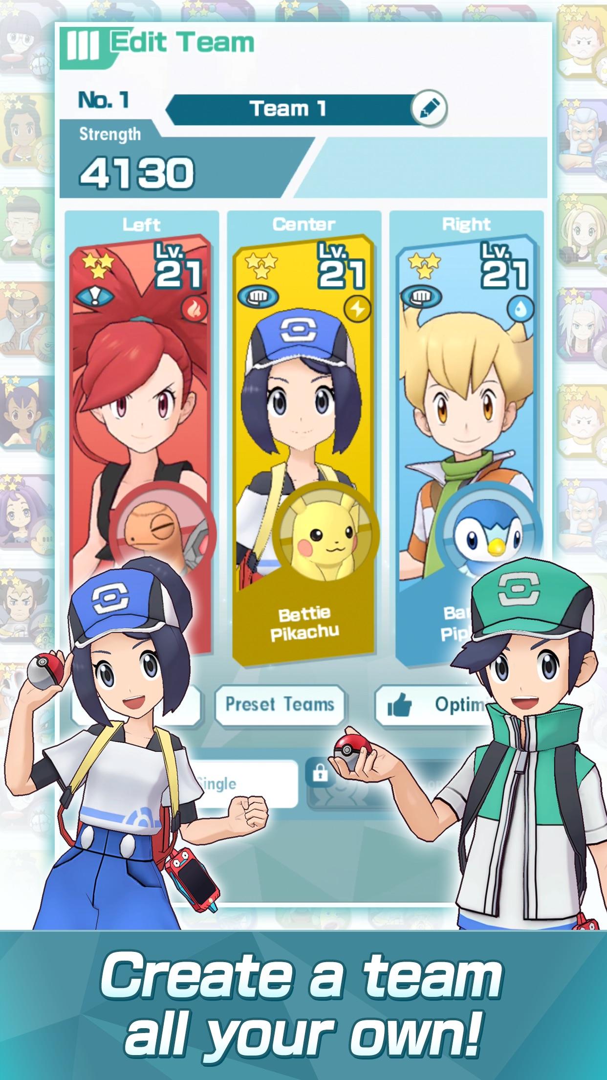 Screenshot do app Pokémon Masters