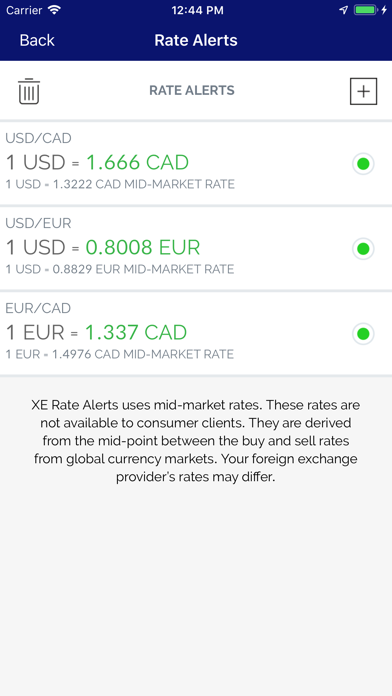 Xe Currency review screenshots