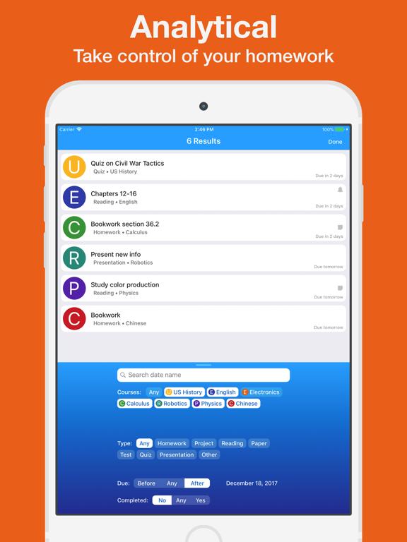 Homework App screenshot