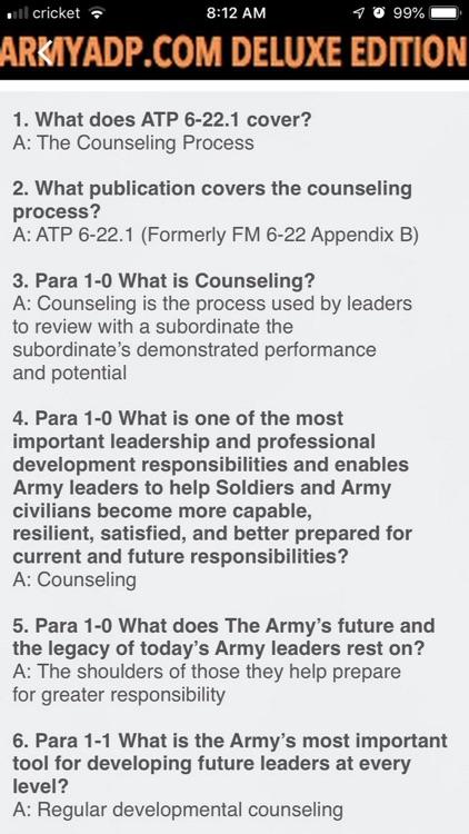 Army study guide ArmyADP.com screenshot-3