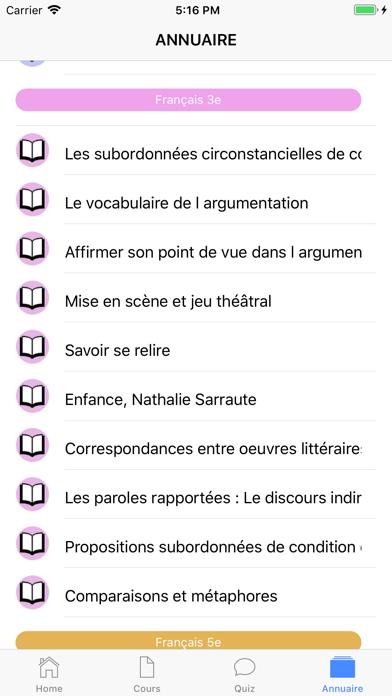 Cours de Français screenshot 8