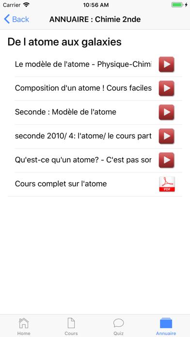Chimie Seconde screenshot 6