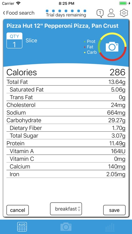 FoodBot Pro - Calorie Counter screenshot-3