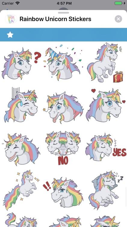 Rainbow Unicorn Stickers screenshot-9