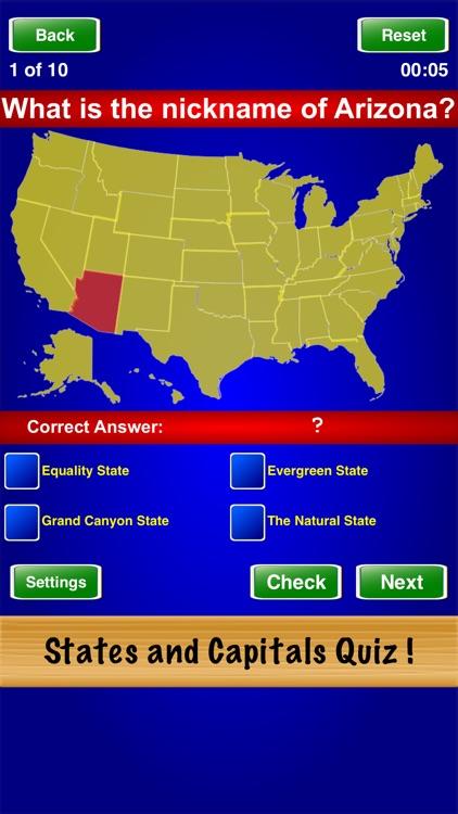 States and Capitals Quiz ! screenshot-3