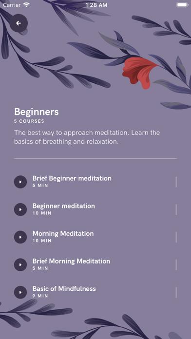 Meditation App screenshot 2