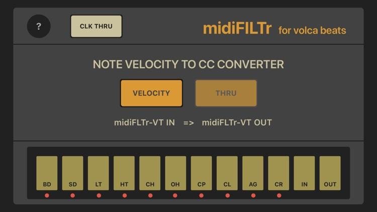 midiFILTr-VT for Volca Beats