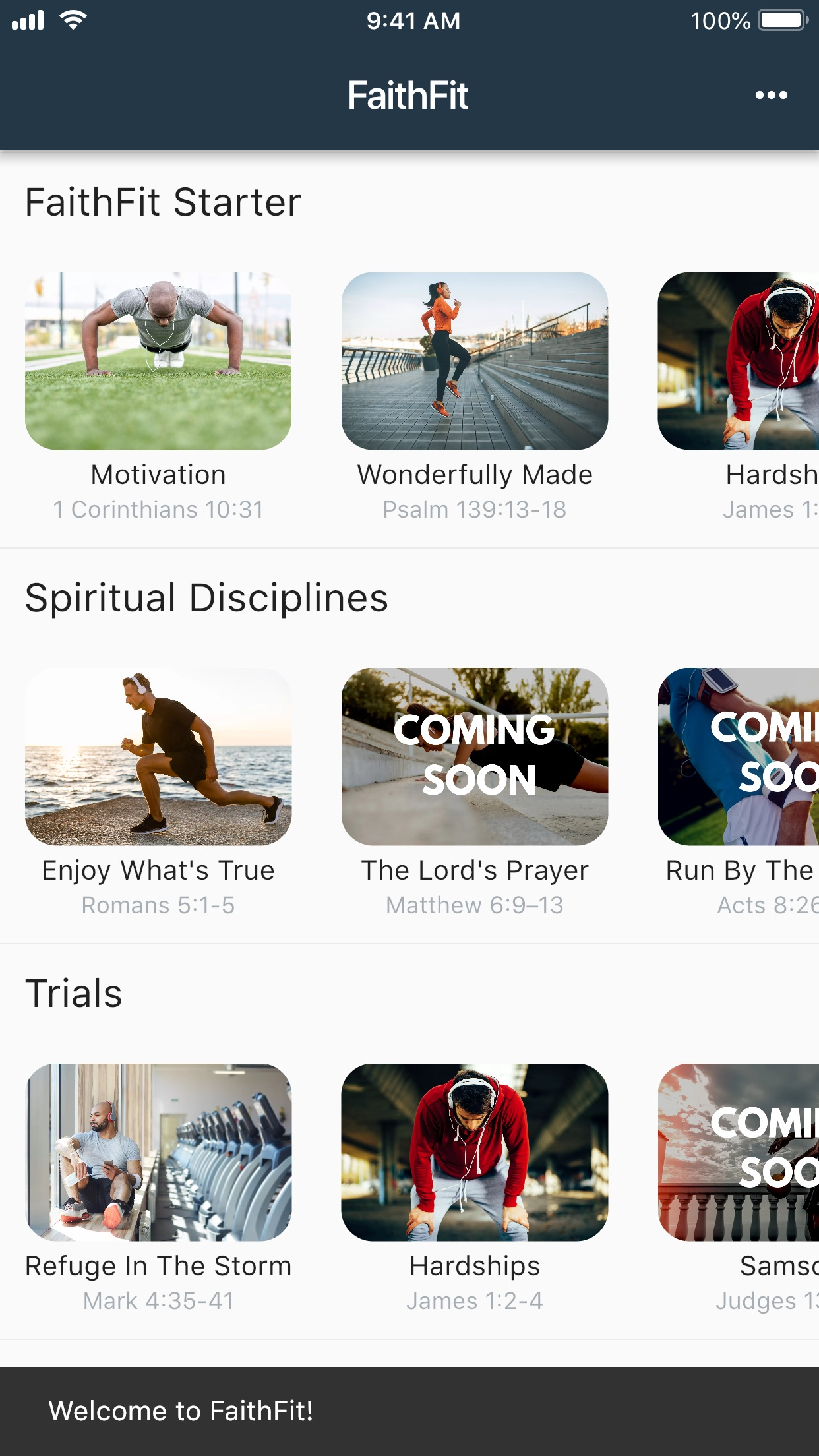 FaithFit Project Screenshot