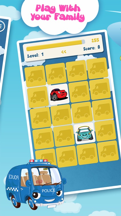 Matching family game: Cars screenshot-3