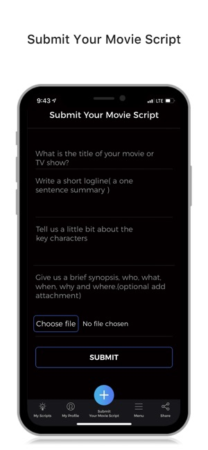 Submit Your Movie Script on the App Store