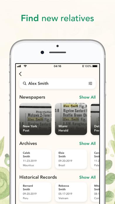 Search Family Tree History Screenshot 2