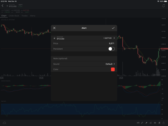 TabTrader screenshot