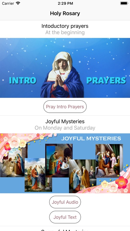Holy Rosary With Audio & Text