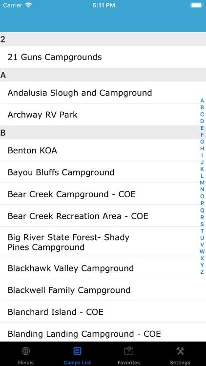 Illinois – Camps & RV Parks