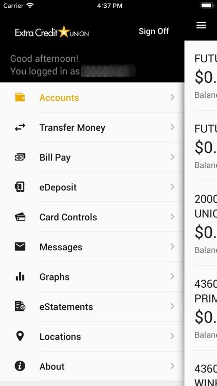 Extra CU Mobile Banking screenshot-3