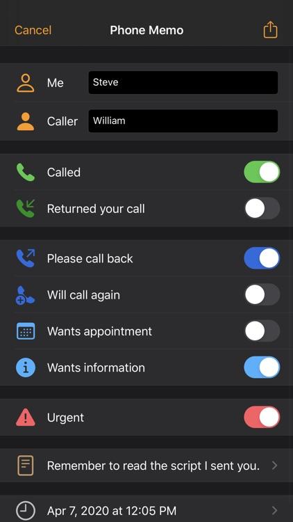 Phone Memos