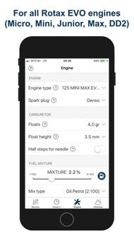 Jetting Rotax Max EVO Kart iphone images