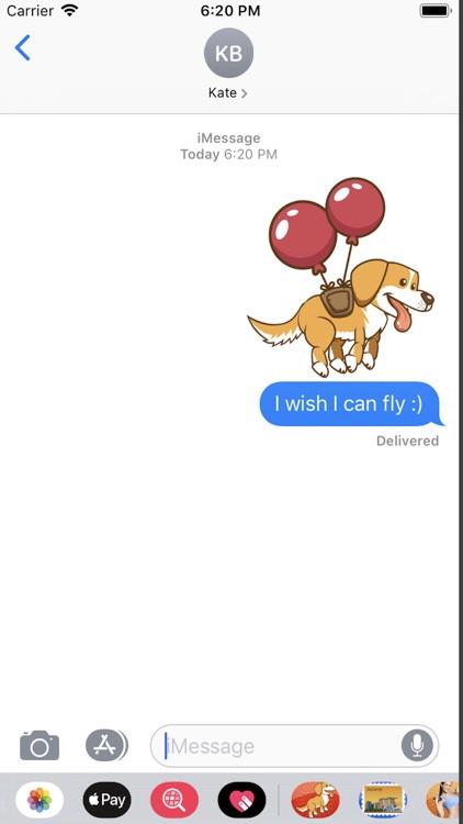 Golden Dog Emojis Stickers