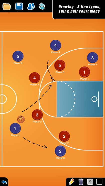 Coach Tactic Board: Basket