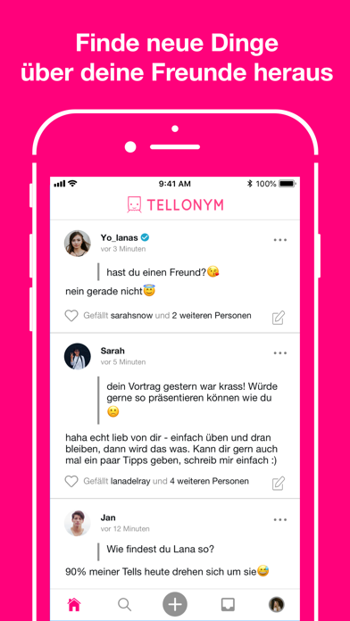 Screenshot for Tellonym: Honest Q&A, Feedback in Germany App Store
