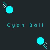 Cyan Ball Bounce