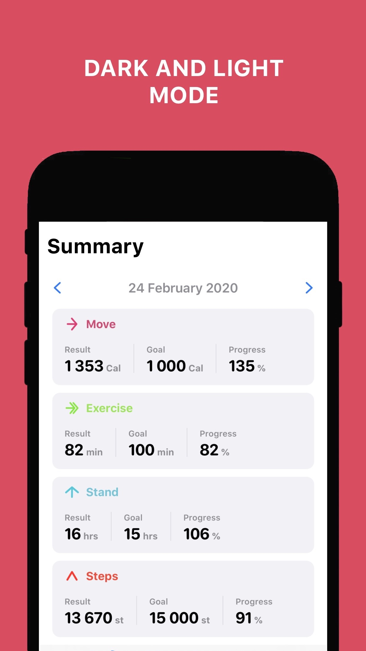 Screenshot do app Activity Tracker+