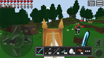 World of Cubes Survival Craft Screenshot on iOS